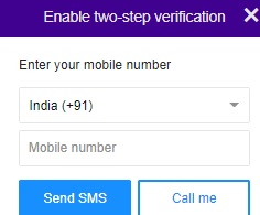yahoo mobile number requirement