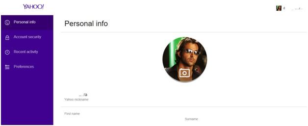 yahoo personal info