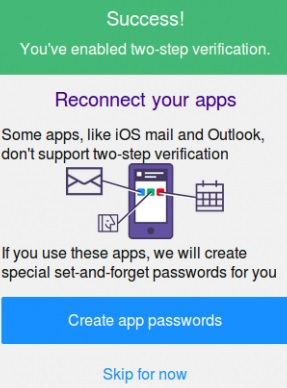 yahoo success verify 2 step