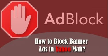 how to block banner ads in Yahoo