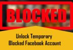 Unlock Temporary Blocked Facebook Account