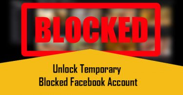 Unlock Temporary Blocked Facebook Account