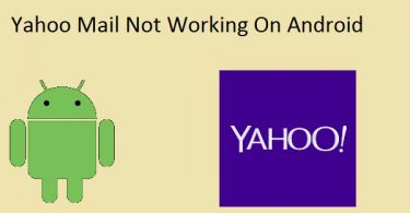 Yahoo mail not working android