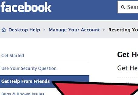 Get help facebook friend