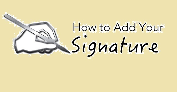 add signature in outlook 2010