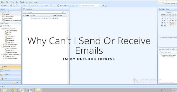 outlook error in incoming & outgoing mails