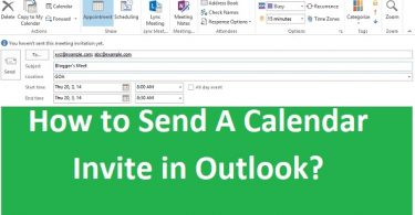 Outlook Calendar Invite
