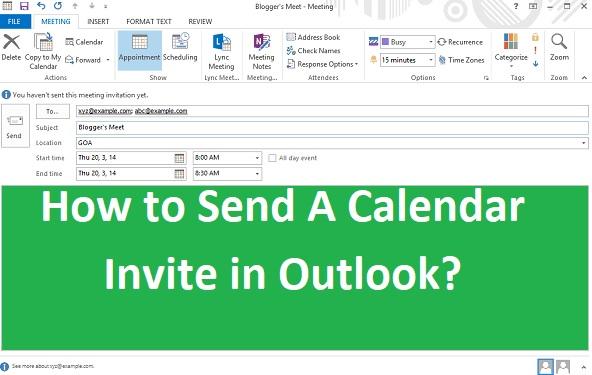 Outlook Calendar Invite