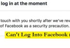 cannot login facebook