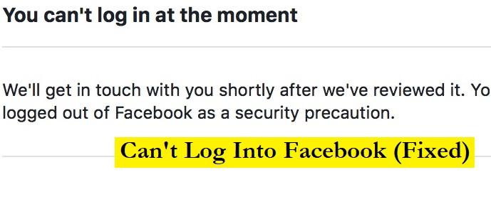cannot login facebook