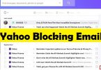 yahoo blocking emails