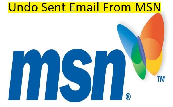 undo sent email MSN