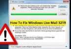 windows live mail error 3219