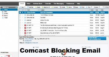 Comcast blocking email