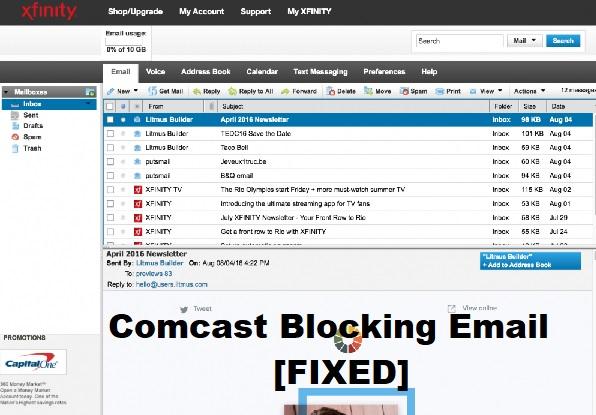 Comcast blocking email