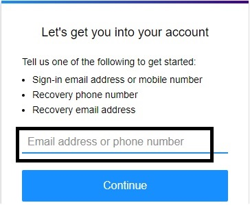 Forgot password recovery of Yahoo mail