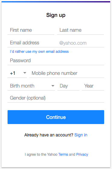 how to sign up for a new yahoo account 1 888 282 0666 help